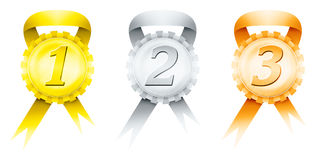 Three medals Royalty Free Stock Photography
