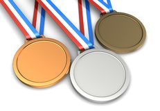 Three medals Stock Photos