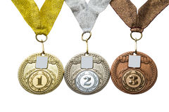 Three medals Royalty Free Stock Image