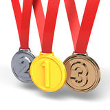 Three Medals Stock Photos