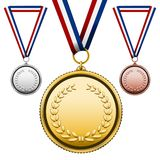 Medals with blank face Royalty Free Stock Image