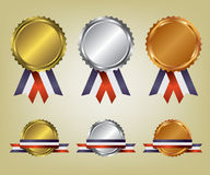 Three medals illustration Royalty Free Stock Images