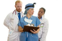Three Medical Healthcare Staff Stock Photos