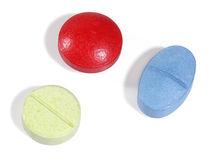 Three medicine pills Stock Photography