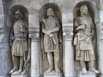 Three medieval knights in Hungary Royalty Free Stock Photo