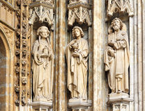 Three medieval personages Stock Photos