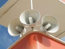 Three megaphones stock images