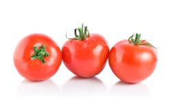 Three mellow red tomatoes Royalty Free Stock Photos