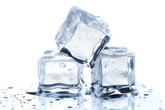 Three Melting Ice Cubes Stock Image