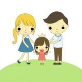 Three member of family isolate Stock Image