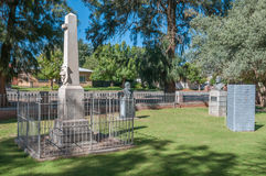 Three memorials at the Dutch Reformed Church in Boshof Royalty Free Stock Images