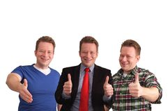 Three men. The same guy three tims in different attire Royalty Free Stock Photo