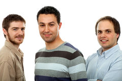 Three men. Three casual men isolated on white background Stock Photography