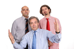 Three men business team Royalty Free Stock Photography