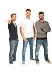 Three men pointing to you Stock Image