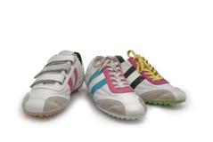 Three men's running shoe Stock Image