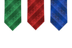 Three men's tie Royalty Free Stock Image