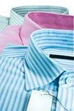Three men shirt. Stock Photo