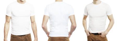 Three men in T-shirt Stock Photo