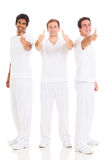 Three men thumbs up Stock Images