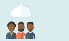 Three men under the cloud Stock Image