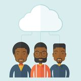 Three men under the cloud Royalty Free Stock Photography