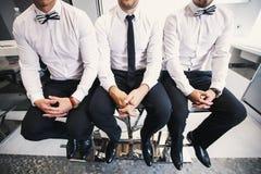 Three men in white shirts Royalty Free Stock Photos