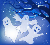 Three merry ghosts. Royalty Free Stock Photo