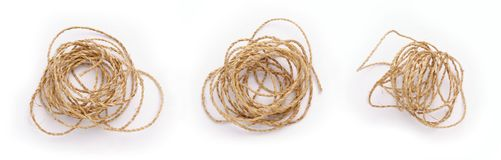 Three Mess Rope. Against white background Stock Photos