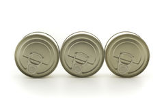 Three metal cans Royalty Free Stock Photos