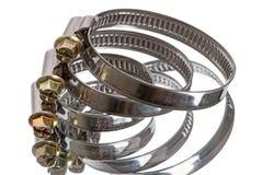 Three metal clamp Royalty Free Stock Photo