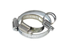 Three metal clamp Royalty Free Stock Images