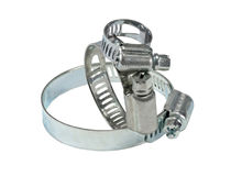 Three metal clamp Stock Images
