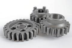 Three metal gears Stock Photography