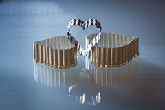 Three metal hearts Royalty Free Stock Images