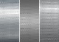 Three metal mesh texture. Royalty Free Stock Image