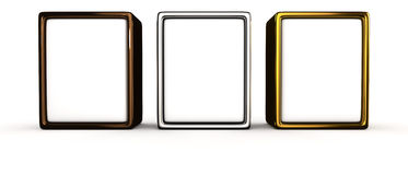 Three metal panels Royalty Free Stock Image