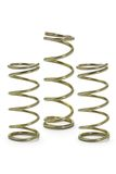 Three metal spring coils stock images