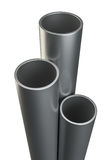 Three metal tubes. Isolated on white Stock Photography