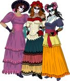 Three Mexican Graces Royalty Free Stock Photos