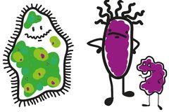 Three of the microbe Royalty Free Stock Images