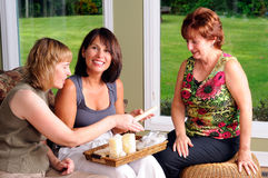 Three Middle Age Women royalty free stock photos