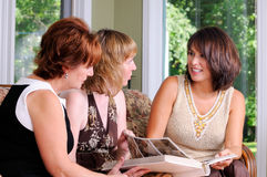 Three Middle Age Women Stock Photo