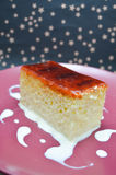 Three milk cake with caramel souce Royalty Free Stock Images