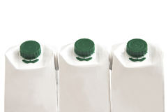 Three milk cartons. Stock Photography
