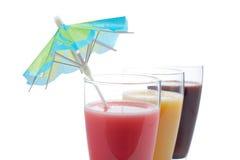 Three milkshakes, detail Stock Photography