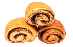 Three mini buns with poppy Royalty Free Stock Photos