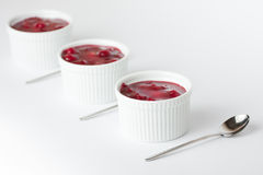 Three mini cheesecakes Stock Photography