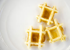 Three mini waffle Stock Image