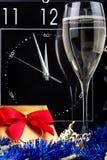 Three minutes to New Year Stock Photo